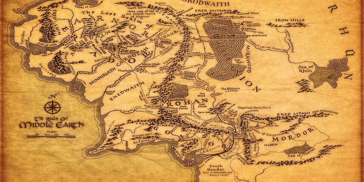Mittelerde Geographie